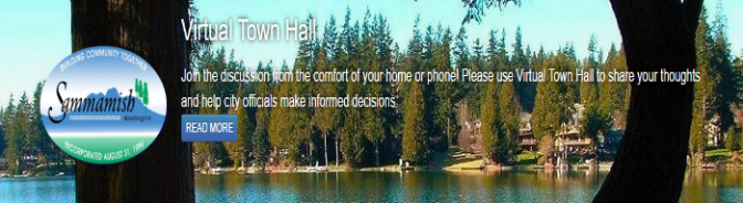 Be heard on Sammamish Virtual Town Hall